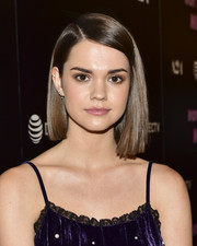 Maia Mitchell looked trendy with her asymmetrical bob at the screening of 'Hot Summer Nights.'