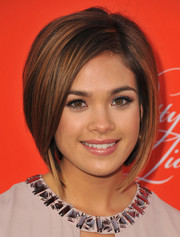 Nicole Gale Anderson sported a trendy graduated bob at the 'Pretty Little Liars' Halloween episode screening.