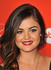 Lucy Hale looked gorgeous at the 'Pretty Little Liars' screening with her berry lips and loose braid.