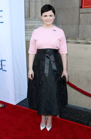 Ginnifer Goodwin kept it youthful in a loose pink Marni blouse during the 'Once Upon a Time' season 4 screening.