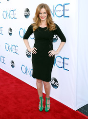 Rebecca Mader opted for a simple little black dress when she attended the 'Once Upon a Time' season 4 screening.