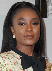 Kiki Layne styled her hair into a high ponytail for the screening of 'If Beale Street Could Talk.'