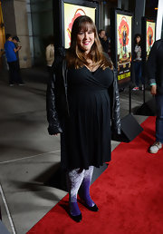 Tara Copeland chose a classic LBD for her look at 'The Brass Teapot' screening.