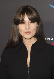 Monica Bellucci attended the screening of 'Mozart in the Jungle' wearing her signature straight hair with eye-grazing bangs.