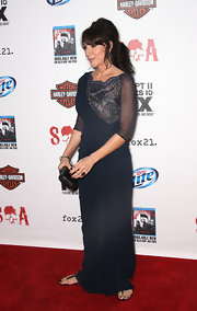 Katey Sagal worked it in a black lace-panel evening dress with sheer sleeves during the 'Sons of Anarchy' Season 5 screening.