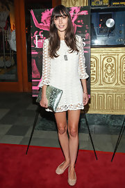Rebecca Dayan's lace frock had a fun hippie-inspired look to it.