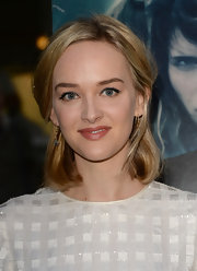 Jess Weixler chose this half up, half down look for the screening of 'Black Rock' in Hollywood.