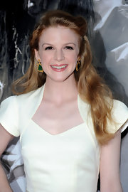 Ashley Bell showed off her long curls while hitting the premiere of 'The Last Exorcism'.