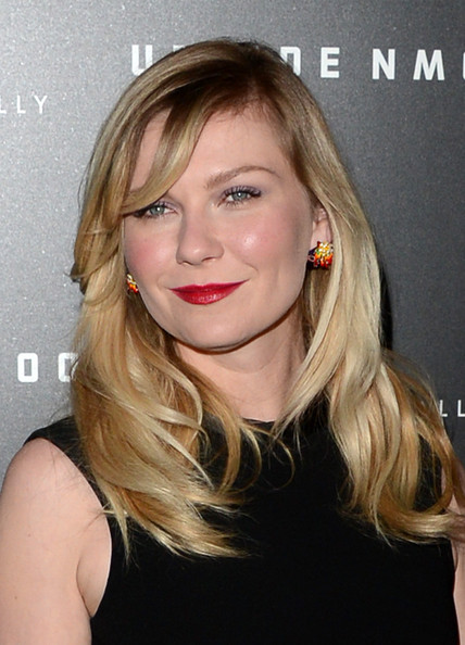 More Pics of Kirsten Dunst Long Wavy Cut with Bangs (1 of 43) - Long Wavy Cut with Bangs Lookbook - StyleBistro