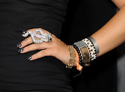 Fivel Stewart sported a glam diamond-encrusted snake ring at the 'Final Destination 5' screening.