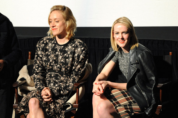 Jena Malone attended the Q&A of 'The Wait' looking edgy in a black leather biker jacket.