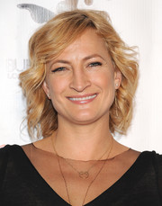 Zoe Bell wore her hair short and wavy when she attended the 'Gimme Shelter' screening in Hollywood.