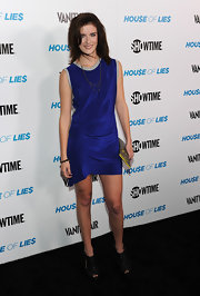 Anna Wood was rocker glam at the 'House of Lie$' event in LA. She topped off her ensemble with black cutout ankle boots.