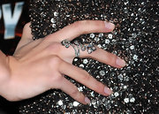 Amber Heard wore a sparkling diamond cocktail ring to the premiere of 'Drive Angry 3D.'