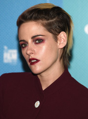 Kristen Stewart styled her hair into a fauxhawk for the BFI London Film Festival screening of 'Seberg.'