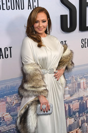 Leah Remini amped up the sparkle with a crystal clutch.