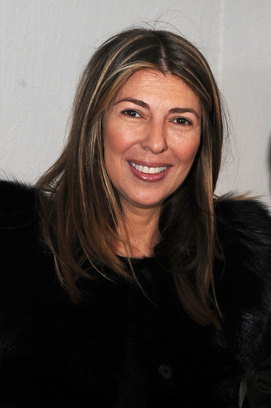 Nina Garcia wore her hair in streaked layers during Mercedes-Benz Fashion Week.