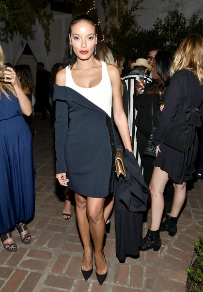 Selita Ebanks Tuxedo Dress