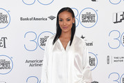 Selita Ebanks Silk Pants