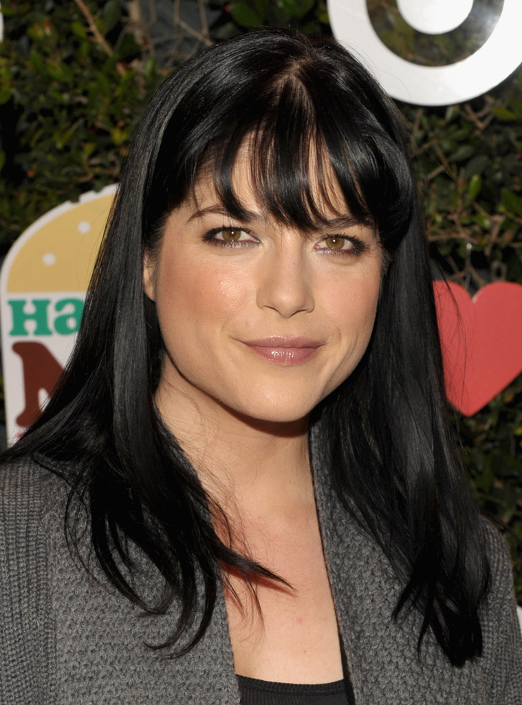 Naomi Campbell Hair Bangs Selma Blair Long Strai...