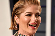 Selma Blair Side Parted Straight Cut