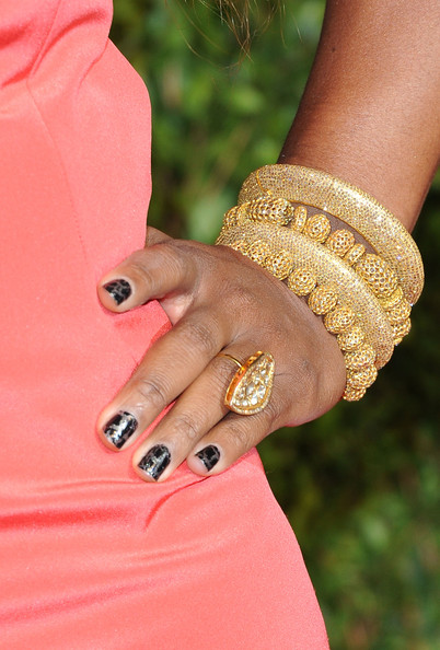 Serena Williams Cocktail Ring [nail,manicure,finger,nail care,nail polish,hand,cosmetics,ring,peach,jewellery,serena williams,graydon carter - arrivals,oscar,graydon carter,jewelry detail,west hollywood,california,vanity fair,oscar party,party]