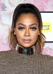 La La Anthony showed off a perfectly styled high ponytail at the Serena Williams Signature Statement fashion show.
