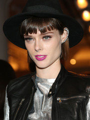 Coco Rocha contrasted her edgy outfit with a sweet berry lip when she attended the Serena Williams Signature Statement by HSN fashion show.