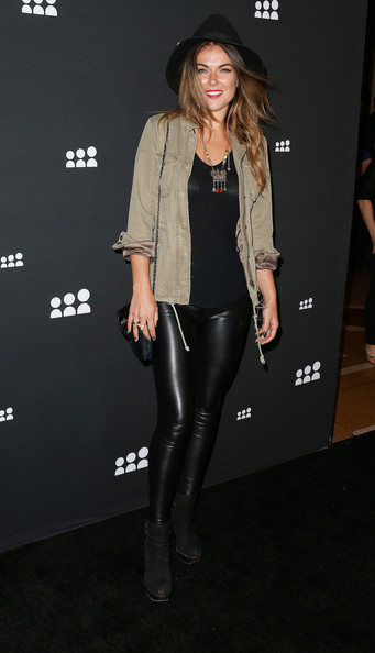 Serinda Swan Leather Pants