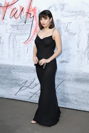 Charli XCX went racy in a sheer black gown with a draped neckline at the Serpentine Summer Party 2018.