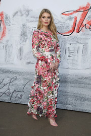 Lady Kitty Spencer was all abloom in a flower-appliqued gown by Dolce & Gabbana at the Serpentine Summer Party 2018.