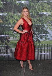 Barely-there heels completed Kitty Spencer's attire.