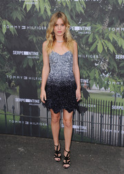 Georgia May Jagger sparkled in an ombre sequin dress at the Serpentine Summer Party.