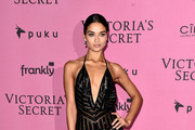 Shanina Shaik Halter Dress