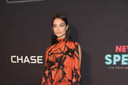 Shanina Shaik Print Dress