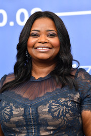 Octavia Spencer attended the Venice Film Festival photocall for 'The Shape of Water' wearing this sweet wavy hairstyle.