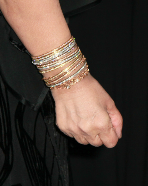 Sharon Osbourne Bangle Bracelet [sharon osbourne,bracelet,wrist,jewellery,finger,fashion accessory,hand,bangle,arm,chain,metal,evening of pride,an evening of pride,eleven restaurant nightclub,west hollywood,california]
