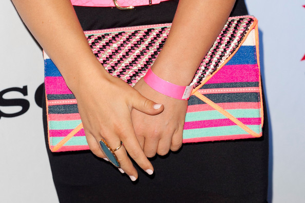 Shawn Johnson Printed Clutch