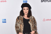 Shenae Grimes Fur Coat