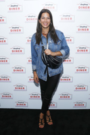Rebecca Minkoff kept it casual in a denim jacket at the Shopbop Diner.