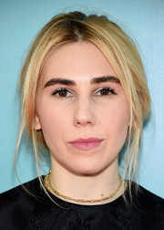 Zosia Mamet kept it relaxed with this loose, messy updo at the New York premiere of 'The Big Sick.'