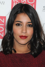 Leila Bekhti wore a rich brick red lipstick at the 2012 Sidaction Gala Dinner.