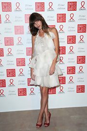 Lou Doillon was sa frothy beauty in this white tiered dress at the Sidaction Gala Dinner.