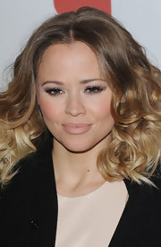 Kimberley Walsh was on trend with this nude lip color at the Health Lottery fundraising event.