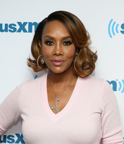Vivica A. Fox looked red carpet-ready with her glamorous curled-out bob while visiting SiriusXM's Town Hall.
