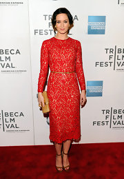 Emily Blunt made this classic lace dress red hot at the 'Your Sister's Sister' premiere.