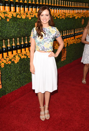 Ahna O'Reilly teamed her top with a simple white skirt.