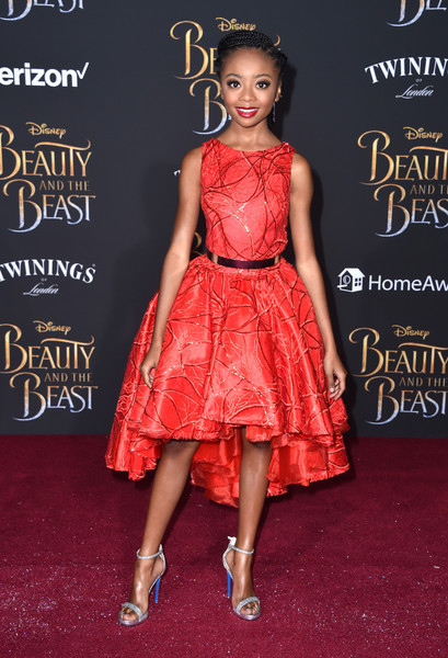 Skai Jackson Embroidered Dress