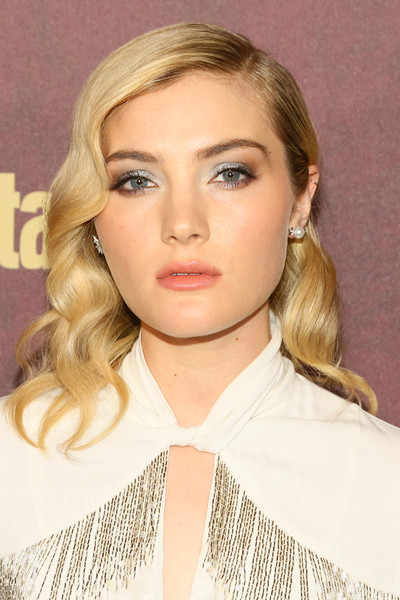 Skyler Samuels Medium Wavy Cut [hair,face,blond,hairstyle,eyebrow,lip,chin,beauty,long hair,skin,arrivals,skyler samuels,sunset tower hotel,west hollywood,california,entertainment weekly,entertainment weekly pre-emmy party]