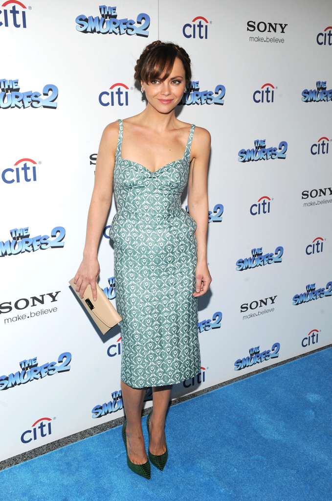 Christina Ricci's Retro Teal Number